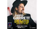DAVID GARRETT koncert Praha 1.10.2019, vstupenky online