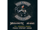 FIVE FINGER DEATH PUNCH and MEGADETH Praga-Praha 14.2.2020, entradas en linea